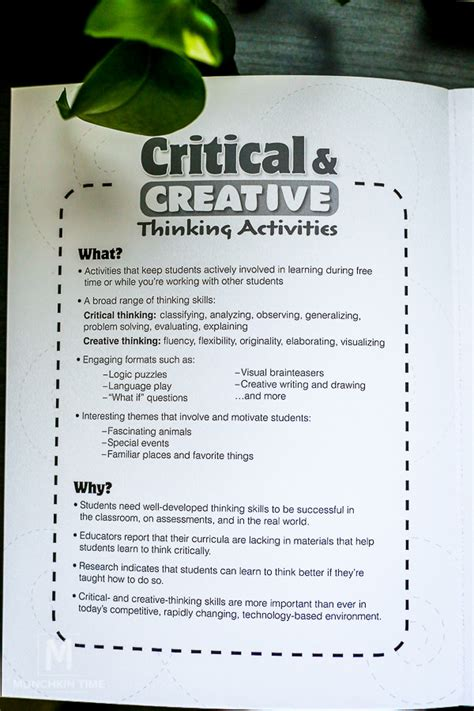 creative activities and curriculum for children creative activities for children 137 creative and critical thinking activity book for