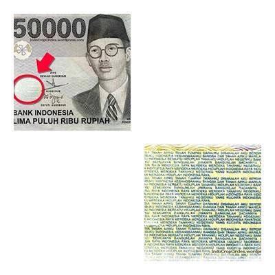 Uang 50 Ribu Rupiah No Unik tulisan tersembunyi di uang kertas rp50 ribu wr supratman