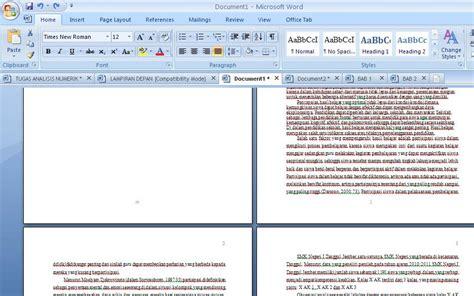 format halaman word mengatur nomor halaman dengan format berbeda dalam word