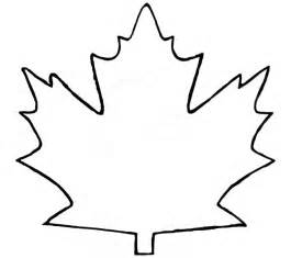 Leaf Template Printable by Maple Leaf Outline Clipart Coloring Europe Travel
