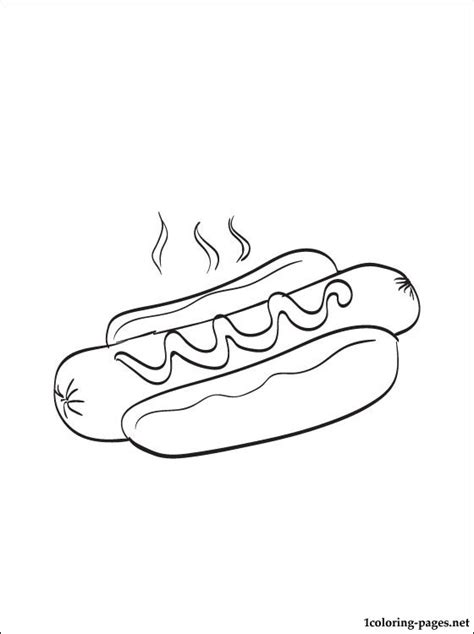coloring page of a hot dog hot dog coloring page coloring pages hot dog coloring