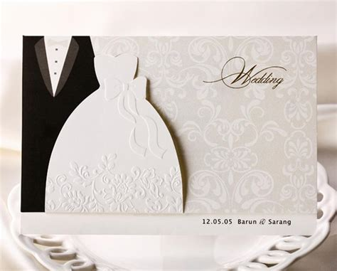 Wedding Invitation Card Groom by Personalized Wedding Invitations Cards Traditional Tuxedo