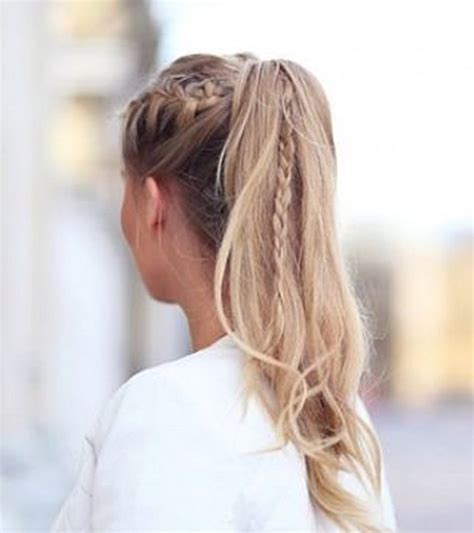 cute hairstyles plaits ponytail hairstyles vpfashion