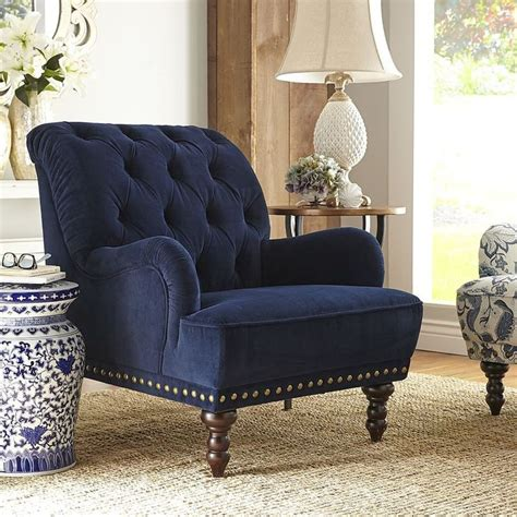 Navy Blue Armchair by Navy Blue Velvet Armchair Velvet Armchairs And Pier 1