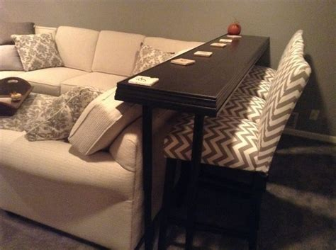 bar table behind couch pin by joni laycook on keyser pinterest