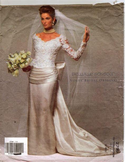Mst Dress Angeline White 90s vogue bridal original pattern 2799 bellville sassoon