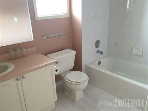 pink bathroom vanity updating an bathroom vanity pink notebook
