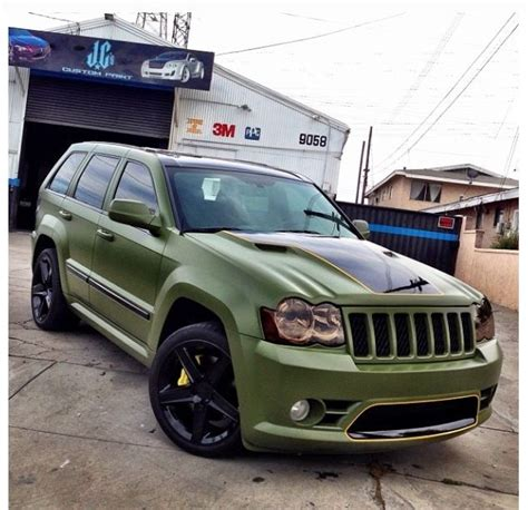 matte green jeep grand matte green srt8 allwaysbeencrazy boutcars