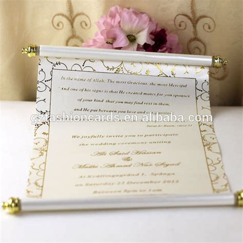 Wedding Invitation Card Roll 2015 splendid pop up arabic roll wedding invitation card