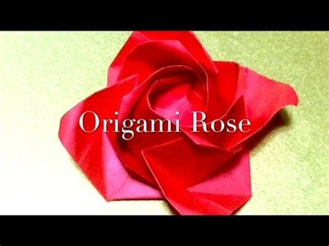8 5 X 11 Origami Flower - 1000 ideas about 折り紙 バラ on 折り紙 折り方 and 箸 袋