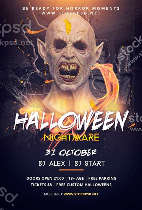 Halloween Flyer Psd Free Download