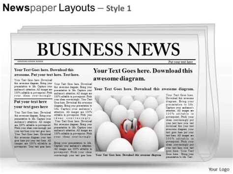 newspaper template powerpoint image gallery editable newspaper