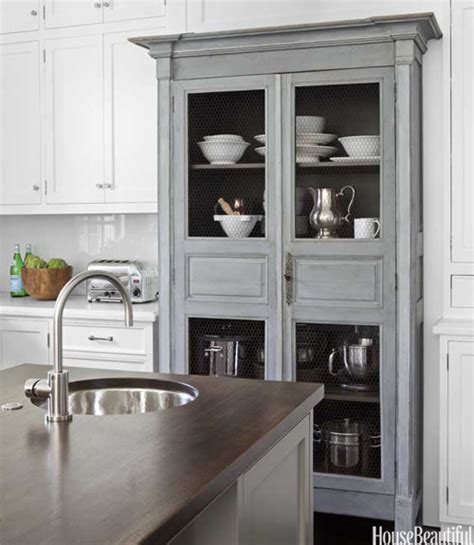 kitchen armoire cabinets chicken wire cabinet doors transitional kitchen