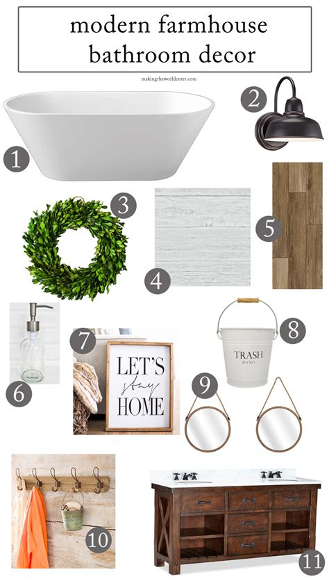 how to create a stunning modern farmhouse bathroom