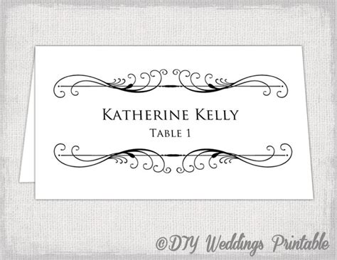 name tent card template printable place card template tent name card templates