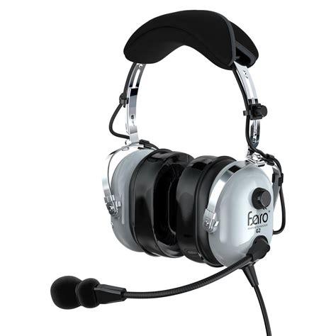 Headset Pilot faro g2 pnr premium pilot aviation headset with mp3 input adapters for aviation