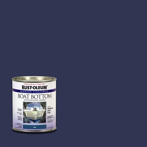 boat bottom paint salt water rust oleum marine 1 qt flat blue boat bottom antifouling