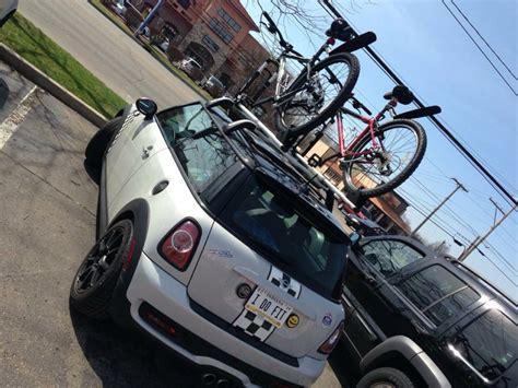 Bike Rack For Mini Cooper Hardtop fs gen2 mini cooper hardtop roof rack with 2 bike holders american motoring