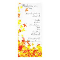 Thanksgiving Dinner Menu Template by Thanksgiving Dinner Menu Template Customized Rack Card