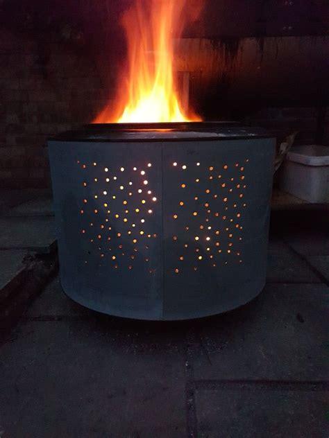 tumble dryer drum converted   fire pit tumble