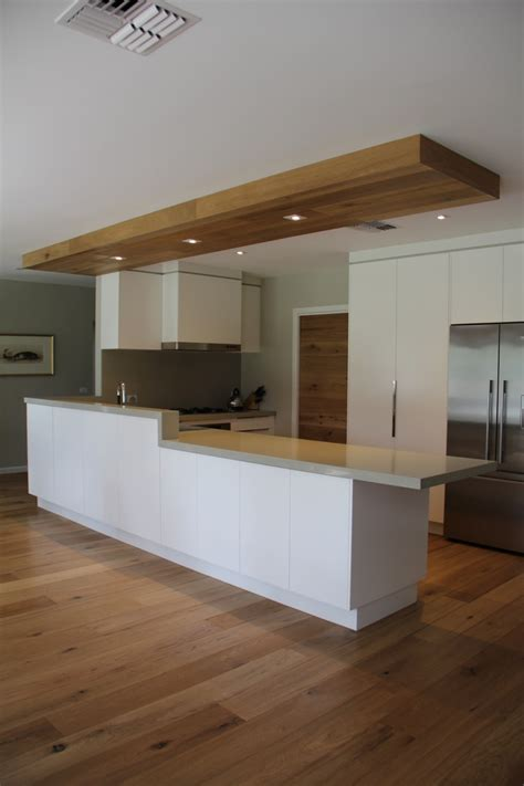 Kitchen Cabinet Bulkhead by Smoked American Oak Has Been Used In This Kitchen On
