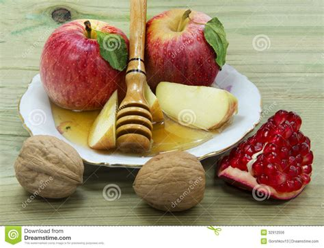 new year food traditions and symbolism traditional food for rosh hashanah royalty free stock