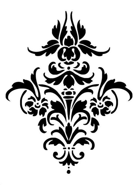 printable damask stencils print out damask pattern on a piece of posterboard use a