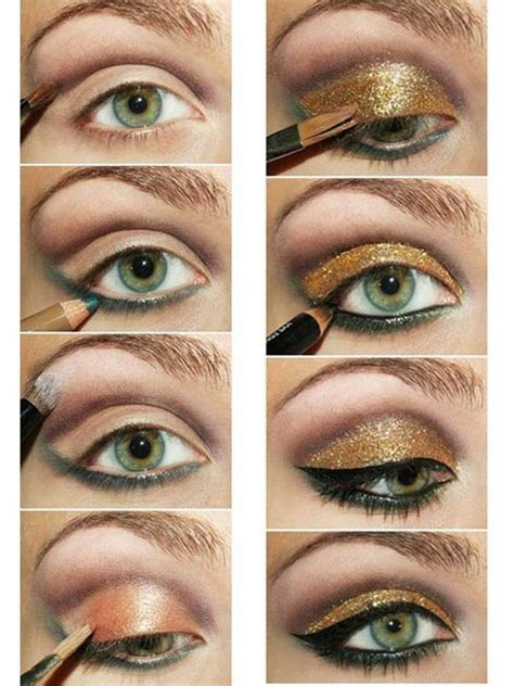 eyeshadow tutorial with gold 20 amazing eye make up tutorials for a perfect look