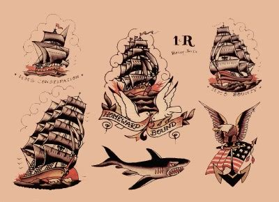 sailor jerry ship tattoo designs flower designs image hosting flash