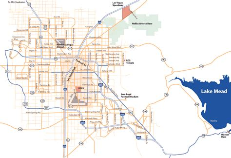 map las vegas road map of las vegas pictures map of las vegas city pictures