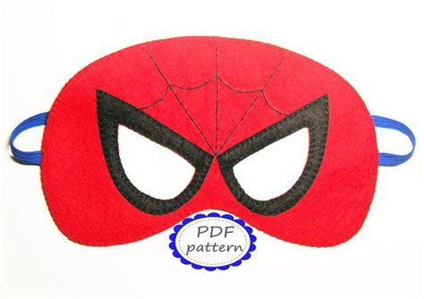sewing pattern for spiderman mask pdf pattern spiderman superhero felt mask diy sewing