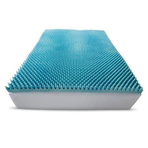 target bed toppers comforpedic loft from beautyrest 3 quot gel textured memory