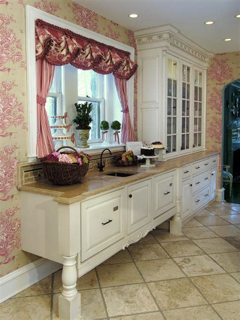 French Country Kitchen With White Cabinets   HGTV