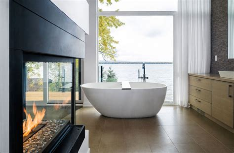 home interior design ottawa bathroom river views fireplace riverside home in ottawa