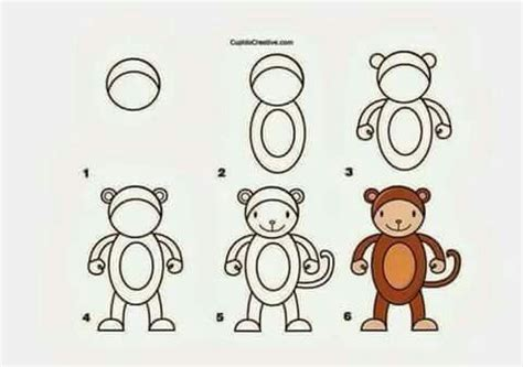 how to draw a doodle monkey 155 best como dibujar images on easy drawings