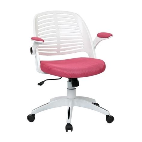 pink office chair  frame  white tyla