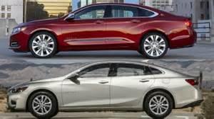 chevrolet impala ltz 2016 vs 2016 chevrolet malibu lt
