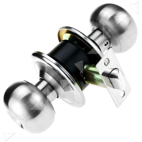 passage style satin stainless modern steel door lock knobs