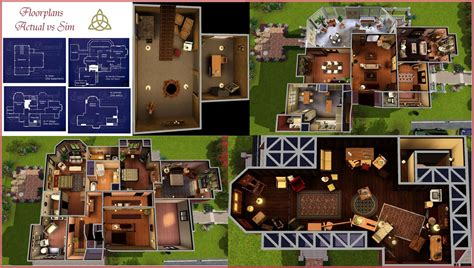 halliwell manor floor plan charmed huis voor the sims 2 dream house plans