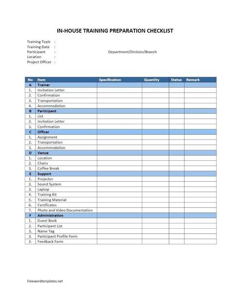 Template Employee Orientation Checklist Template Checklist Form Template