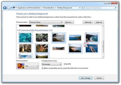 slideshow themes for windows 7 creating saving sharing themes in windows 7