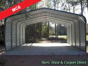 Metal Car Sheds Sale Large Two Car Carport Cover 20 X 26 X 6 Mc6 Barn