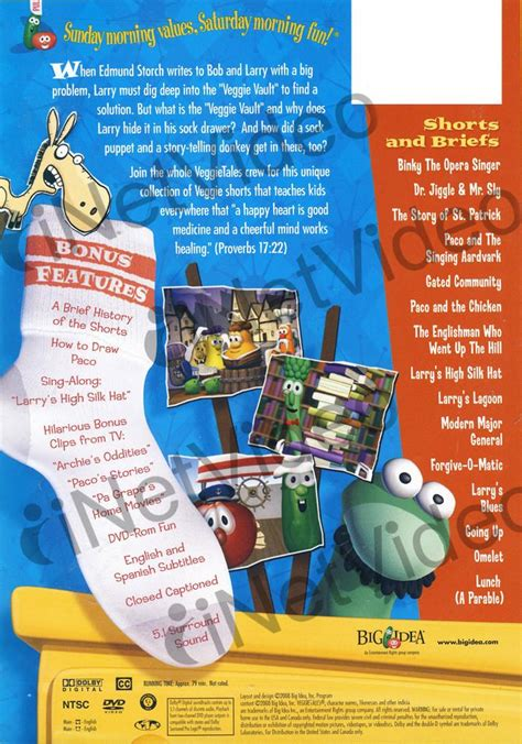 Veggie Tales Lesson From The Sock Drawer by Veggietales Lessons From The Sock Drawer On Dvd