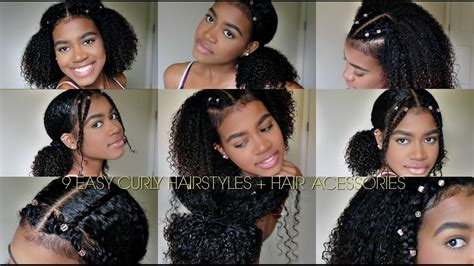 easy curly hairstyles natural hair hair cuffs youtube