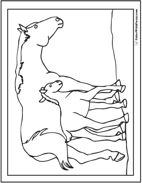 coloring pages of horses and foals coloring page showing galloping
