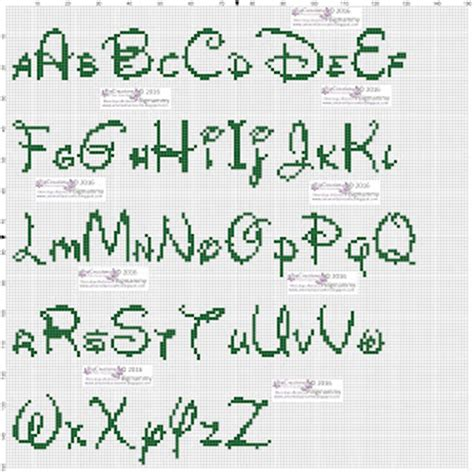 lettere punto croce corsivo amorevitacrocette alfabeti disney a punto croce