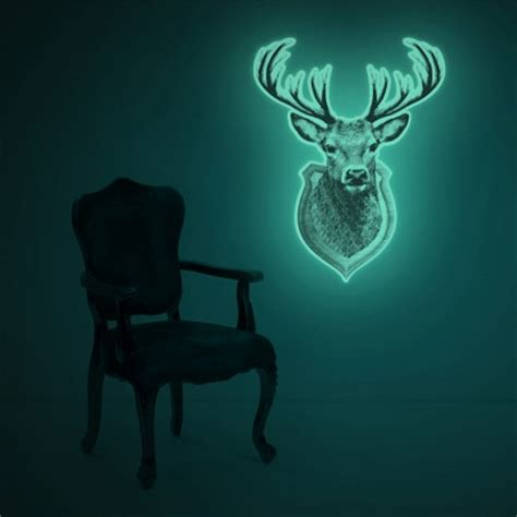 Wall Sticker Glow In The 017 large glow in the stag wall decal