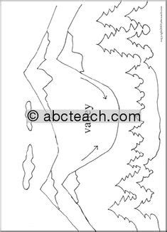 valley pattern worksheet of 1 coloring page landforms mountain geography science