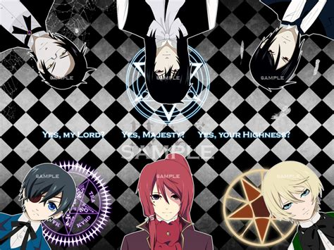 Kaos Anime Seal Black kuroshitsuji black butler toboso yana image 564034 zerochan anime image board