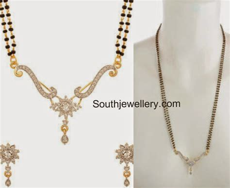 black bead chains in gold one gram gold black mangalsutra jewellery designs
